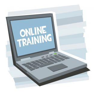 online cursus online training maken illustratie met PC