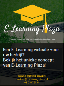 E-Learning Plaza banner advertentie voor e-Learning websites