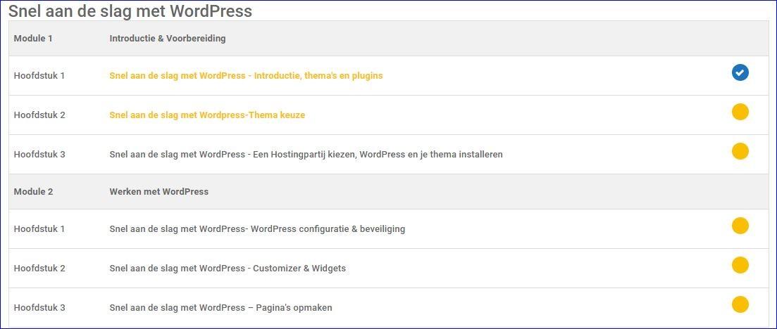 Snel aan de slag met WordPress