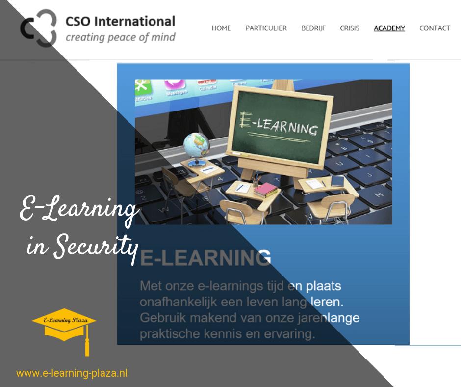CSO International BV breidt hun cursusaanbod uit met E-learning